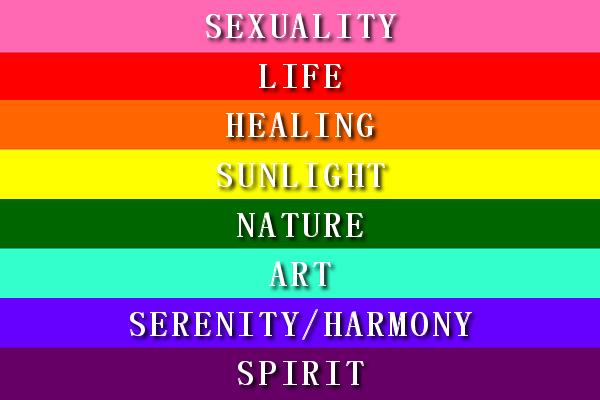 Biểu tượng lá cờ 7 màu của cộng đồng Lgbt