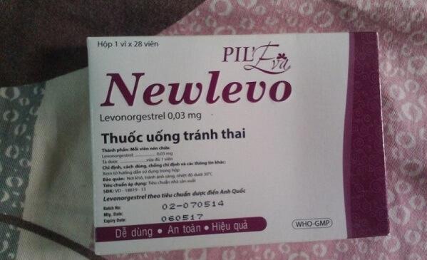 Thuốc tránh thai hàng ngày Newlevo dùng ngay ngày đầu tiên của chu kỳ kinh nguyệt