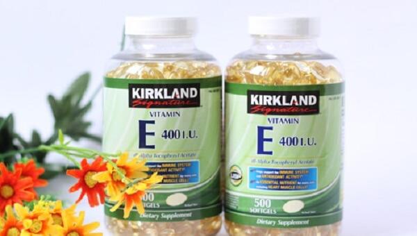 Tác dụng của Vitamin E 400 IU 500 viên Kirkland của Mỹ