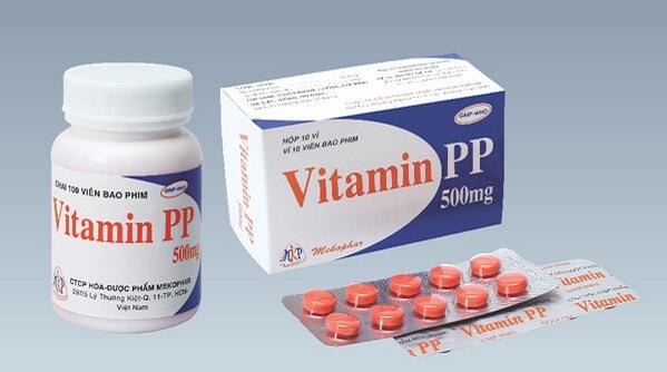 Vitamin pp hiện nay có 3 loại phổ biến đó là vitamin pp 50mg, 100mg và vitamin pp 500mg.
