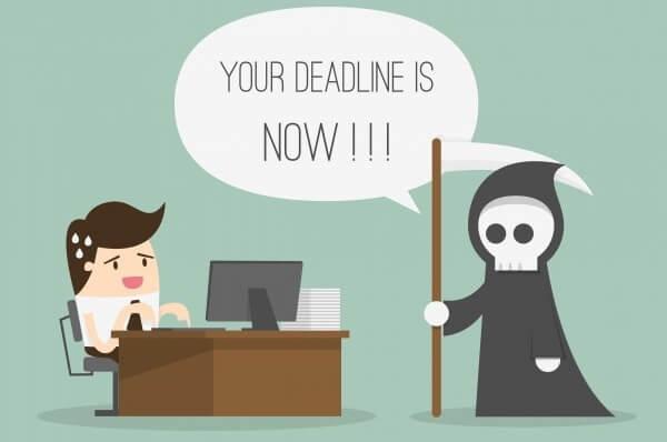 Đặt ra Deadline là việc cần thiết để có bạn có kế hoạch, động lực làm việc