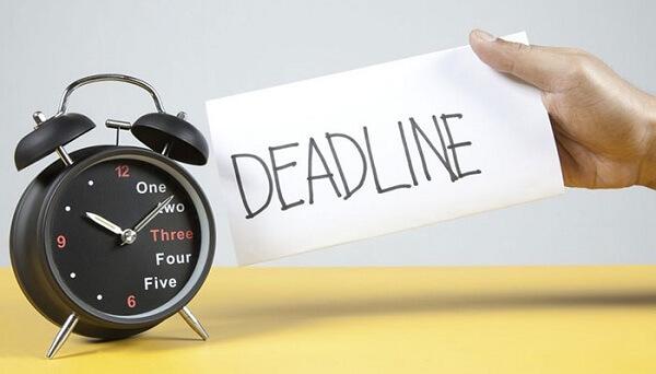 Deadline giúp bạn thành công