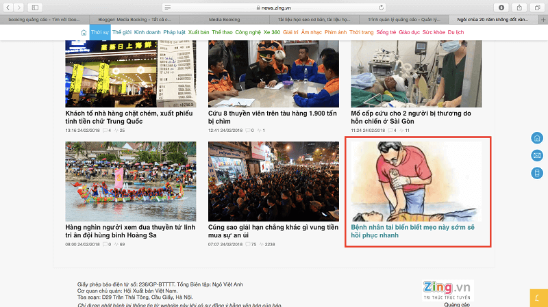 Các ví dụ về Native Ads trên các trang báo lớn, Native Ads là gì