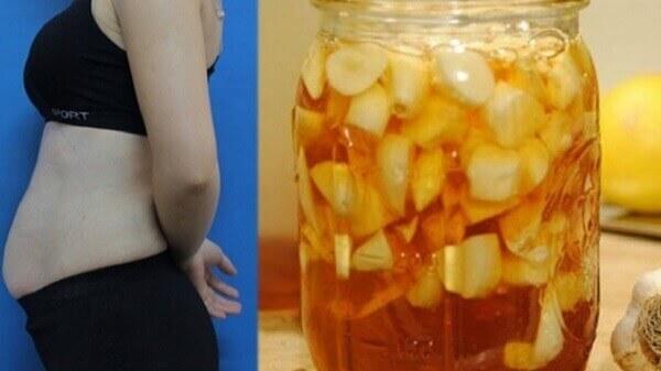 Tỏi ngâm mật ong giảm cân có tác dụng giảm cân, giảm mỡ bụng